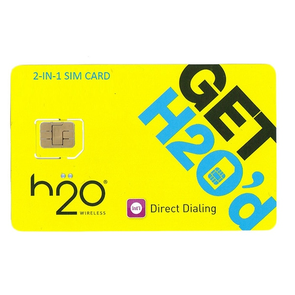 H2O Unlocked 2-in-1 $40 Airtime SIM Card