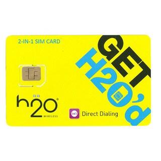 H2O Unlocked 2-in-1 SIM Card