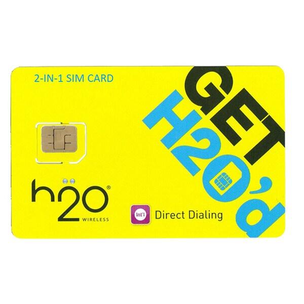 H2O Unlocked 2-in-1 $60 Airtime SIM Card