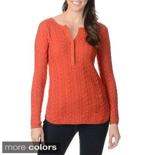 Ply Cashmere Women's Cable Knit Sweater