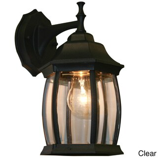 Waterdown 1-light Black Outdoor Wall Mount Fixture