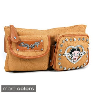 Betty Boop Rhinestone Adorned Fanny Pack with Adjustable Buckle