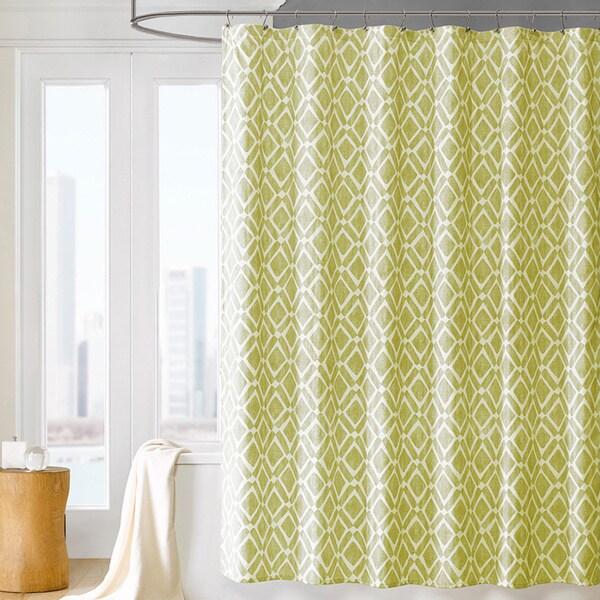 Madison Park Ella Geometric Shower Curtain