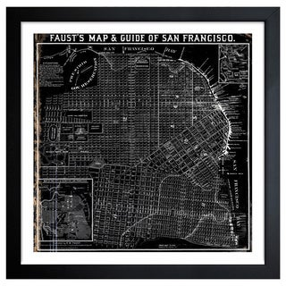 Oliver Gal Artist Co. 'Faust's Map of San Francisco 1882' Framed Art Print