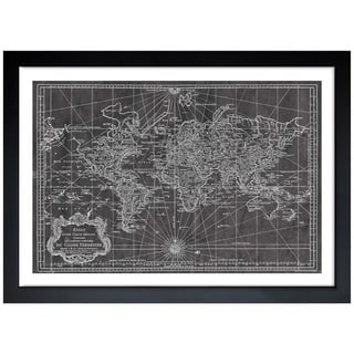 Oliver Gal 'World Map 1778' Framed Art Print