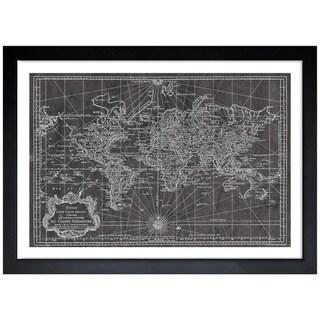 Oliver Gal 'World Map 1778' Framed Art Print