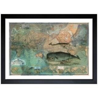 Oliver Gal 'The World Map 1870' Framed Print Art