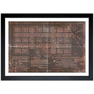 Oliver Gal 'Las Vegas Map' Framed Art Print