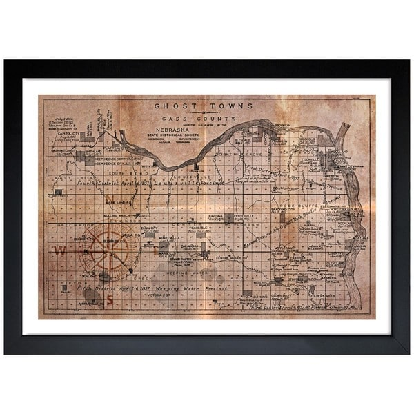 Oliver Gal 'Ghost Towns Map 1866' Framed Print Art