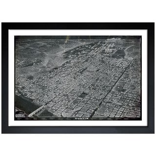 Oliver Gal 'Map of Austin in 1887' Framed Print Art