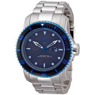 Invicta Men's 'Pro Diver 15077' Grey Dial Stainless Steel Watch