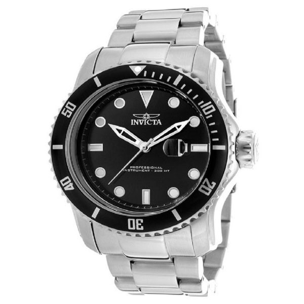 Invicta Men's 'Pro Diver 15075' Black Dial Stainless Steel Watch