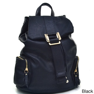 Dasein Faux Leather Fashion Backpack Bag
