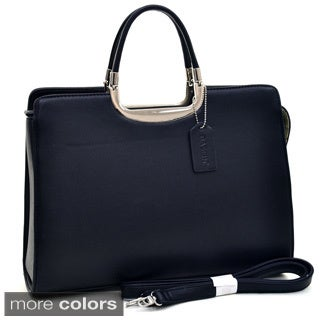 Dasein Classic Faux Leather Fashion Briefcase Handbag