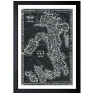 Oliver Gal 'Italy Map 1866' Framed Print Art