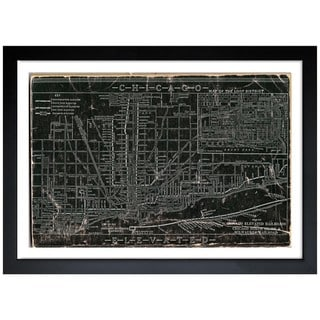 Oliver Gal 'Chicago Railroad' Framed Art Print