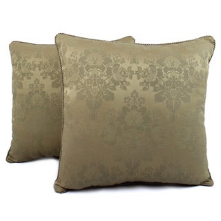 Sherry Kline Iris Taupe Decorative Pillows (Set of 2)