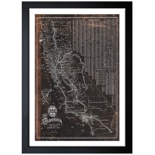 Oliver Gal 'Southern Pacific California Roadrail Map 1901' Framed Print Art