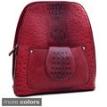 Dasein Ostrich and Croco Fushion Textured Mini Backpack Purse