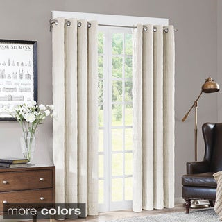 Madison Park Zuni Grommet Textured 84inch Curtain Panel