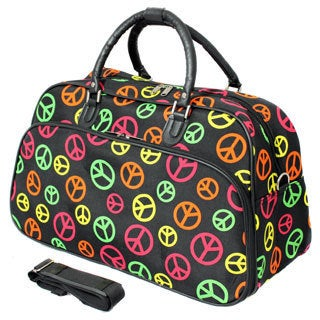 World Traveler Designer Print 21-inch Carry-on Shoulder Tote Duffle Bag