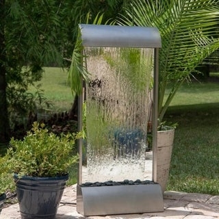 Waterloo Stainless Steel Indoor/ Outdoor Floor or Wall Fountain