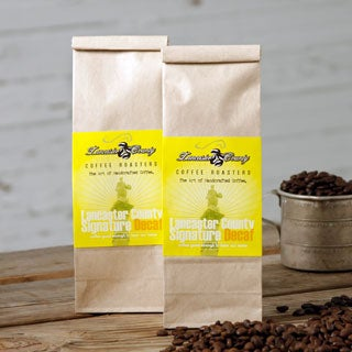 Lancaster County Signature Blend Decaf Coffee - Two 1lb Bags