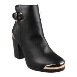 Women's Beston Apollo-WW Black Faux Leather