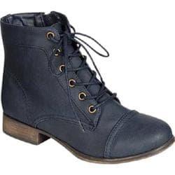 Women's Beston Georgia-41 Navy Blue Faux Leather