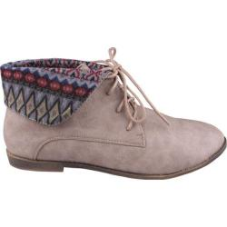 Women's Beston Korsa-01 Taupe Faux Leather
