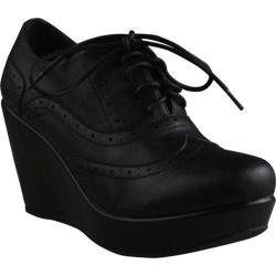 Women's Beston Miller-01 Black Faux Leather