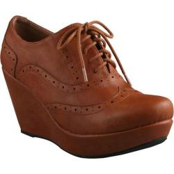 Women's Beston Miller-01 Tan Faux Leather