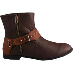 Women's Beston Polly-01 Brown/Camel Faux Leather