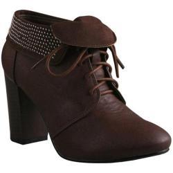 Women's Beston Salem-01 Brown Faux Leather