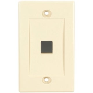 Black Box Value Line Wallplate, Single-Gang, 1-Port, Ivory