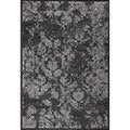 nuLOOM Indoor/ Outdoor Traditional Vintage Black Rug (9' x 12')