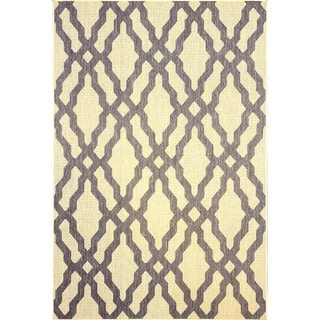 nuLOOM Modern Indoor/ Outdoor Lattice Trellis Grey Rug (7'10 x 10'10)