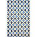 nuLOOM Hand-tufted Diamond Trellis Blue Rug (7'6 x 9'6)
