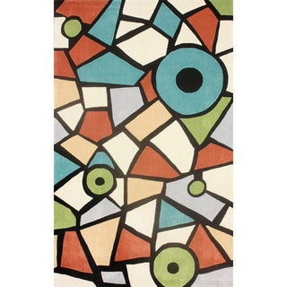 nuLOOM Hand-tufted Modern Stained Glass Multi Rug (7'6 x 9'6)