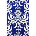 nuLOOM Hand-tufted Indoor/ Outdoor Damask Blue Rug (7'6 x 9'6)