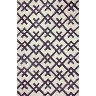 nuLOOM Hand-tufted Indoor/ Outdoor Teepee Black Rug (7'6 x 9'6)