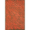 nuLOOM Handmade Cotton/ Wool Modern Zebra Skin Brown Rug (7'6 x 9'6)