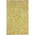 nuLOOM Handmade Cotton/ Wool Modern Zebra Skin Gold Rug (7'6 x 9'6)