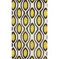 nuLOOM Hand-tufted Modern Circle Trellis Brown Rug (5' x 8')