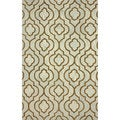 nuLOOM Handmade Cotton/ Wool Moroccan Trellis Brown Rug (5' x 8')