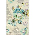 nuLOOM Hand-tufted Modern Floral Abstract Wool Rug (5' x 8')