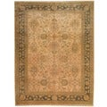 Afghan Hand-knotted Vegetable Dye Beige/ Olive Wool Rug (8'3 x 10')
