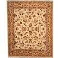 Afghan Hand-knotted Vegetable Dye Ivory/ Gold Wool Rug (8' x 10')
