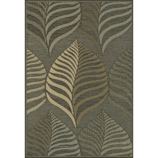 Biscayne Brown/ Multi Indoor Outdoor Rug (7'10 x 10'9)
