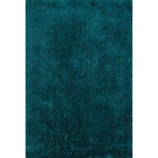 Hand-tufted Dream Blue Shag Rug (5'0 x 7'6)